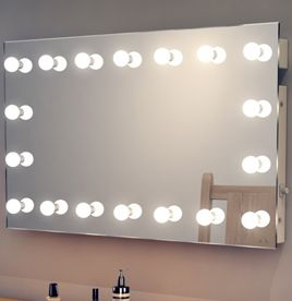 mirror with lights hollywood. Black Bedroom Furniture Sets. Home Design Ideas