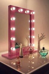 Pink Hollywood Mirror
