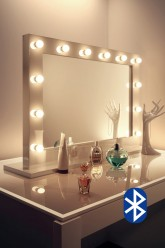 Audio High Gloss White Mirror