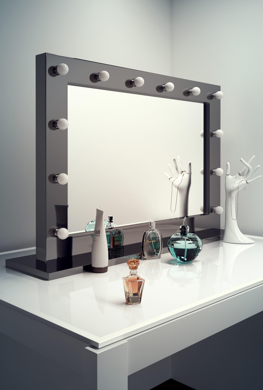 High Gloss Black Mirror Table Top Led H 700mm X W